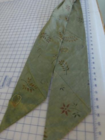 Stenciled scarf 1